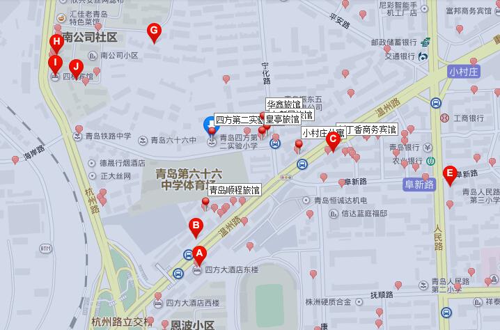 青岛市北小学地图