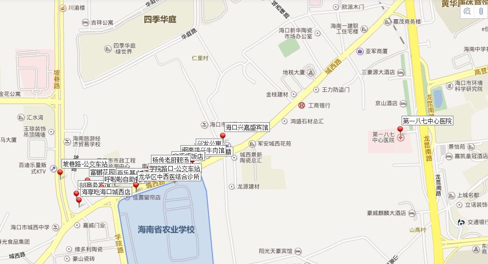 三乡去海南路线图
