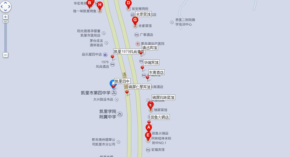 凯里市区地图高清版