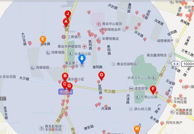 青岛中学 高新区地图
