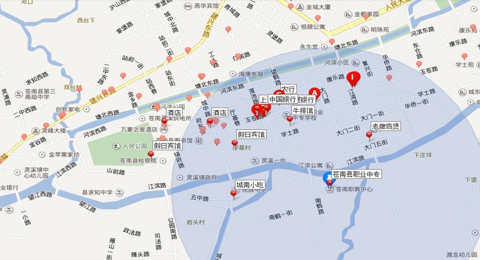青岛开发区职业中专地图