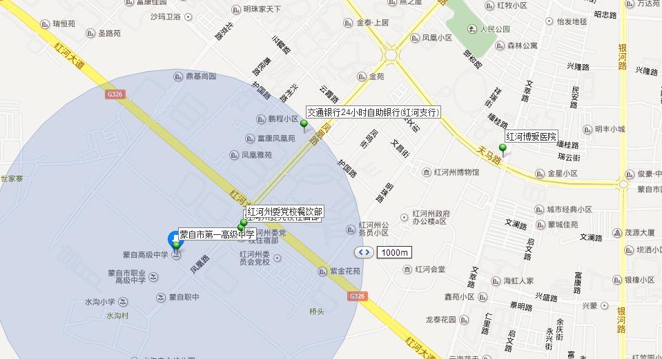 蒙自旅游景点地图